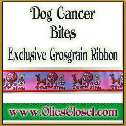 Dog,Cancer,Bites,Canine,Awareness,Olie's,Closet,Exclusive,Ribbon,Dog Cancer Bites Canine Cancer Awareness Ribbon Olie's Closet Exclusive Ribbon
