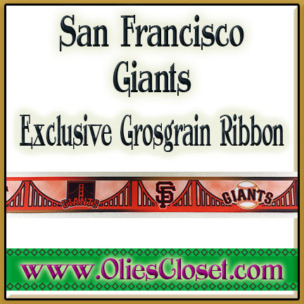San,Francisco,Giants,Olie's,Closet,Exclusive,Grosgrain,Ribbon,San Francisco Giants Olie's Closet Exclusive Grosgrain Ribbon