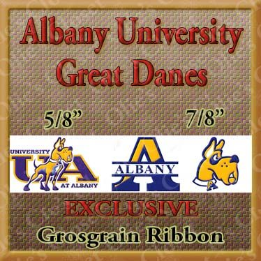 Albany,University,Great,Danes,Custom,Designed,Grosgrain,Ribbon,Albany University Great Danes Custom Designed Grosgrain Ribbon, mlb grosgrain ribbon, nfl grosgrain ribbon, nba grosgrain ribbon, ncaa grosgrain ribbon, nhl grosgrain ribbon, custom printed grosgrain ribbon, designer grosgrain ribbon, team grosgrain ribb