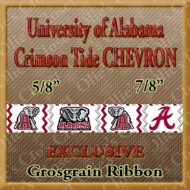 Alabama,Crimson,Tide,Chevron,Custom,Grosgrain,Ribbon,Alabama Crimson Tide Chevron Custom Grosgrain Ribbon, mlb grosgrain ribbon, nfl grosgrain ribbon, nba grosgrain ribbon, ncaa grosgrain ribbon, nhl grosgrain ribbon, custom printed grosgrain ribbon, designer grosgrain ribbon, team gros