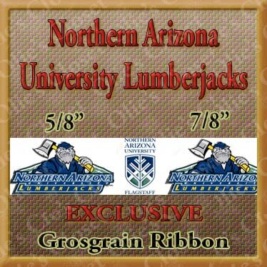 Arizona,Northern,University,Lumberjacks,Grosgrain,Ribbon,Arizona Northern University Lumberjacks ribbon, mlb grosgrain ribbon, nfl grosgrain ribbon, nba grosgrain ribbon, ncaa grosgrain ribbon, nhl grosgrain ribbon, custom printed grosgrain ribbon, designer grosgrain ribbon, team grosgrain ribbon