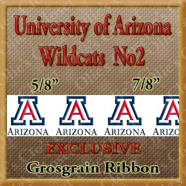 Arizona,University,Wildcats,No2,Grosgrain,Ribbon,Arizona University Wildcats ribbon, mlb grosgrain ribbon, nfl grosgrain ribbon, nba grosgrain ribbon, ncaa grosgrain ribbon, nhl grosgrain ribbon, custom printed grosgrain ribbon, designer grosgrain ribbon, team grosgrain ribbon