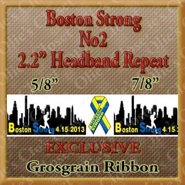 Boston,Strong,No2,-,2.2,Inch,Repeat,for,Headband,Grosgrain,Ribbon,Boston Strong No2 - 2.2 Inch Repeat for Headband Craft Designer Grosgrain Ribbon, breed specific dog ribbon, craft dog ribbon, grosgrain ribbon, dog breed grosgrain ribbon, custom grosgrain ribbon, designer grosgrain ribbon, pedigree dog grosgrain ribbon