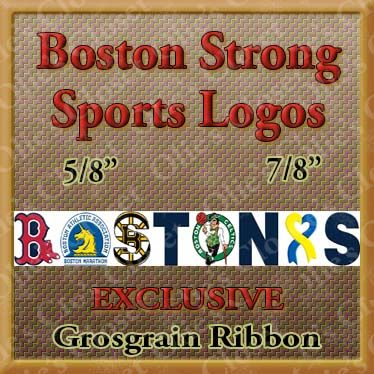 Boston,Strong,Sports,Logos,Craft,Designer,Grosgrain,Ribbon,Boston Strong Sports logos Craft Designer Grosgrain Ribbon, breed specific dog ribbon, craft dog ribbon, grosgrain ribbon, dog breed grosgrain ribbon, custom grosgrain ribbon, designer grosgrain ribbon, pedigree dog grosgrain ribbon