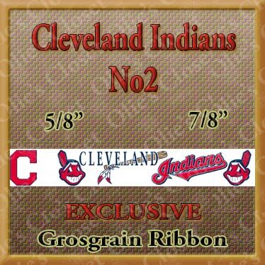 Cleveland,Indians,No2,Grosgrain,Ribbon,Cleveland Indians, mlb grosgrain ribbon, nfl grosgrain ribbon, nba grosgrain ribbon, ncaa grosgrain ribbon, nhl grosgrain ribbon, custom printed grosgrain ribbon, designer grosgrain ribbon, team grosgrain ribbon