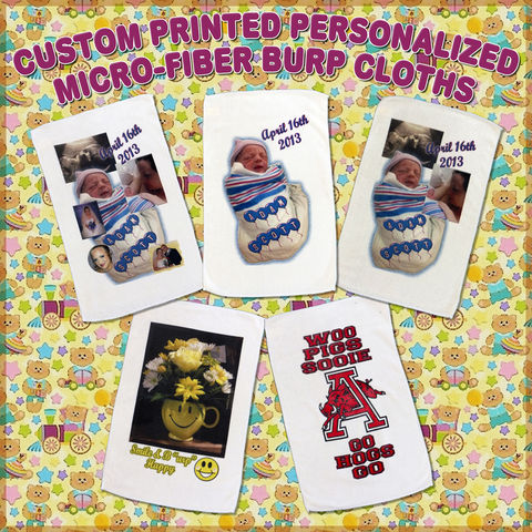 Custom,Printed,Personalized,Photo,Design,Micro-Fiber,Burp,Cloths,Custom Printed Personalized Photo Design Micro-Fiber Burp Cloths, custom burp cloth, photo burp cloth, designer baby gift, personalized baby gift, personalized baby shower gift, custom designed burp cloth, infant gifts, personalized infa