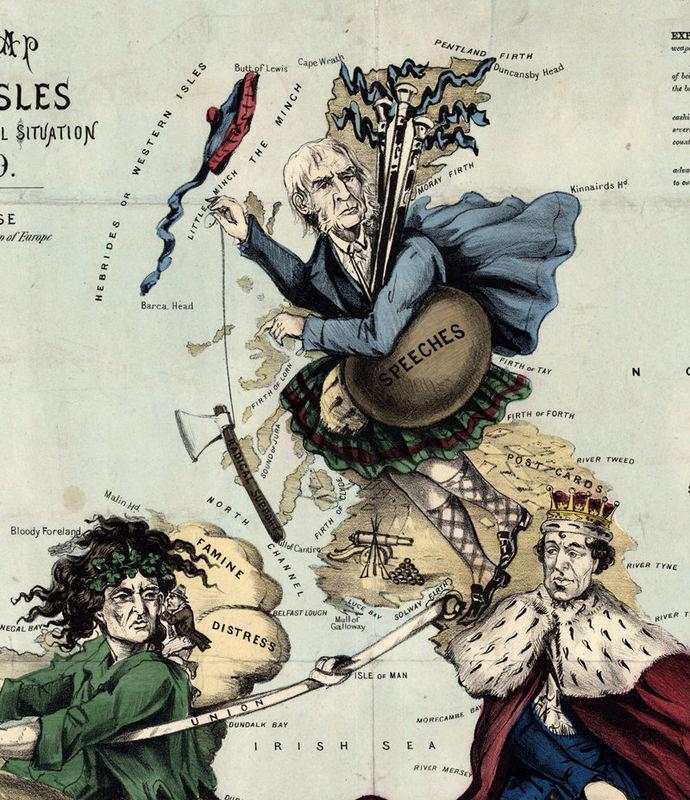 Old Map of United Kingdom Ireland Scotland England 1880 UK – Map Uk Ireland Scotland