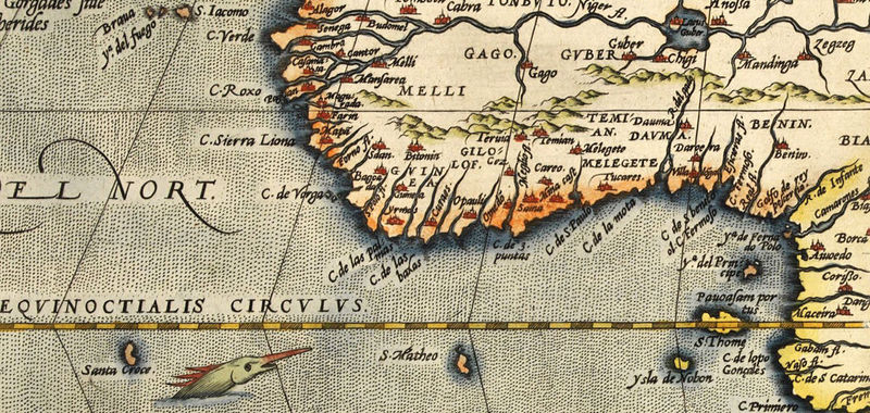 Old Map Of Africa 1579 Vintage Map Old Maps And Vintage Prints