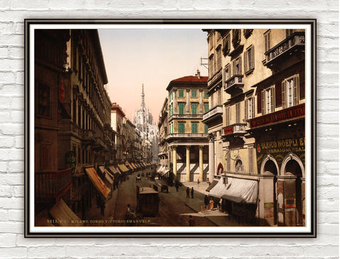 Vintage,Photo,of,Milan,Milano,Italy,Italia,1895,Art,Reproduction,Open_Edition,vintage_poster,Italia_tourism,italy,italy_vintage,travel_poster,old_photo,public_laundry,streets,medieval_street,medieval_italy,italy_decor,milan,milano