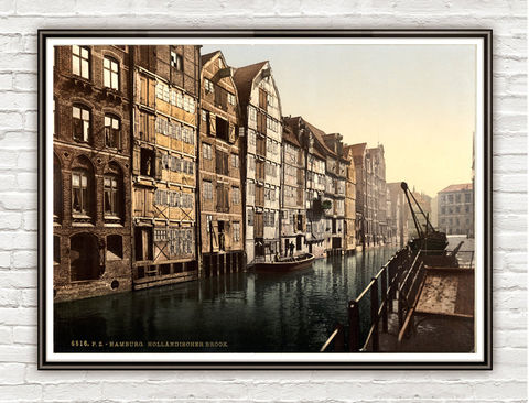 Vintage,Photo,of,Hamburg,,Germany,1895,Art,Reproduction,Open_Edition,vintage_poster,travel_poster,germany_decor,germany_medieval,germany_vintage,germany_poster,germany,german_decor,picturesque,old_photo,hamburg,old_hamburg,brook