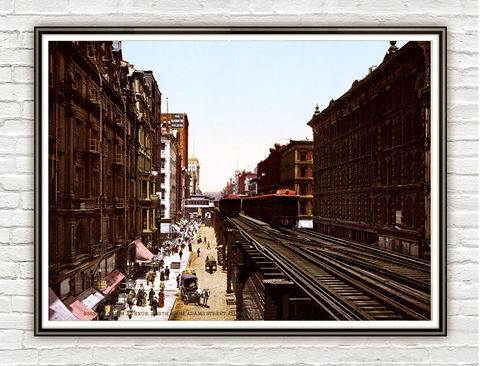 Vintage,Photo,of,Chicago,,Wabash,Ave,1900,Art,Reproduction,Open_Edition,gravures,united_states,north_america,vintage_poster,chicago_photo,street_chicago,chicago,illinois,downtown_chicago,chicago_vintage,chicago_retro