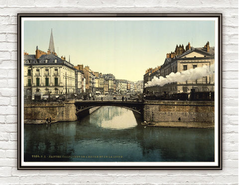 Vintage,Photo,of,Nantes,France,1897,Art,Reproduction,Open_Edition,vintage_poster,travel_poster,France_vintage,french_decor,old_france,france_medieval,france,vintage_photo,france_poster,nantes_city,France_tourisme,train