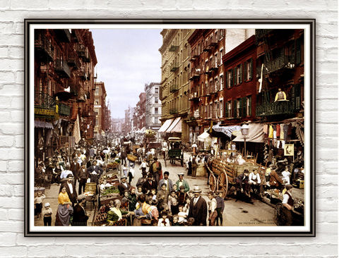 Vintage,Photo,of,New,York,,Little,Italy,Street,1900,Art,Reproduction,Open_Edition,gravures,united_states,north_america,vintage_poster,little_italy,new_york,street_new_york,new_york_photo,ny_vintage,retro_new_york,new_york_poster,new_york_vintage,old_photo
