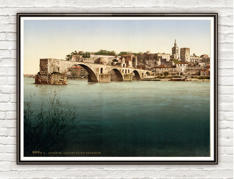 Vintage,Photo,of,Avignon,France,1898,Art,Reproduction,Open_Edition,vintage_poster,travel_poster,France_vintage,french_decor,old_france,france_medieval,france,vintage_photo,france_poster,avignon,avignon_art,tourism_avignon,provence_france