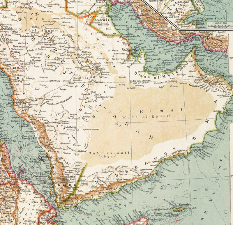 Old Map of Middle East Arabia Vintage map 1929 - OLD MAPS AND ...