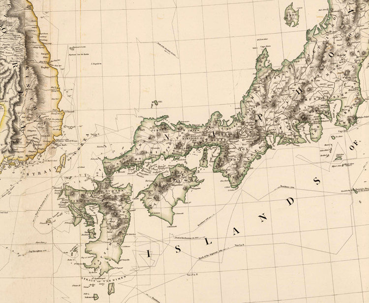 Old Map Of China Japan And Korea Asia Antique Map OLD - Japan map full