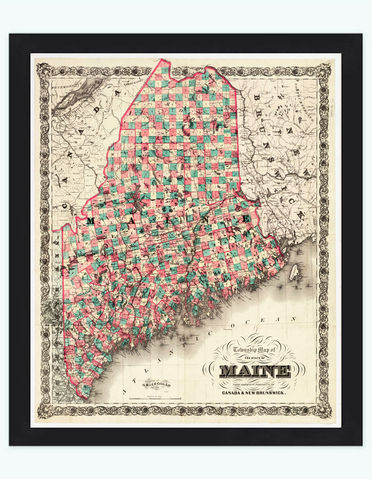 Old,Map,of,Maine,New,Brunswick,Canada,1891,vintage,Art,Reproduction,Open_Edition,old_map,vintage_map,Canada_map,vintage_poster,new_brunswick_map,maine_map,maine_canada,vintage_map_maine,maine_new_brunswick