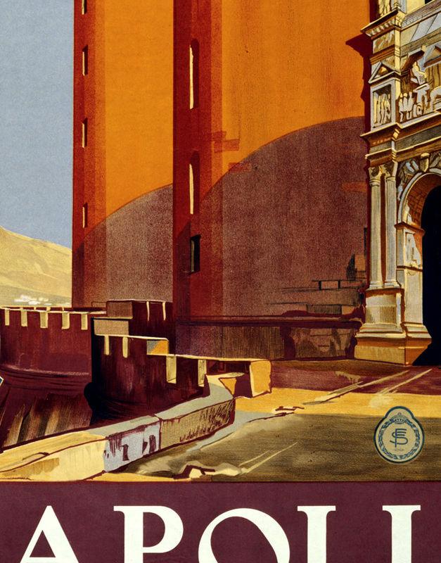 Vintage Poster Of Napoli Italy 1920 Tourism Poster Travel