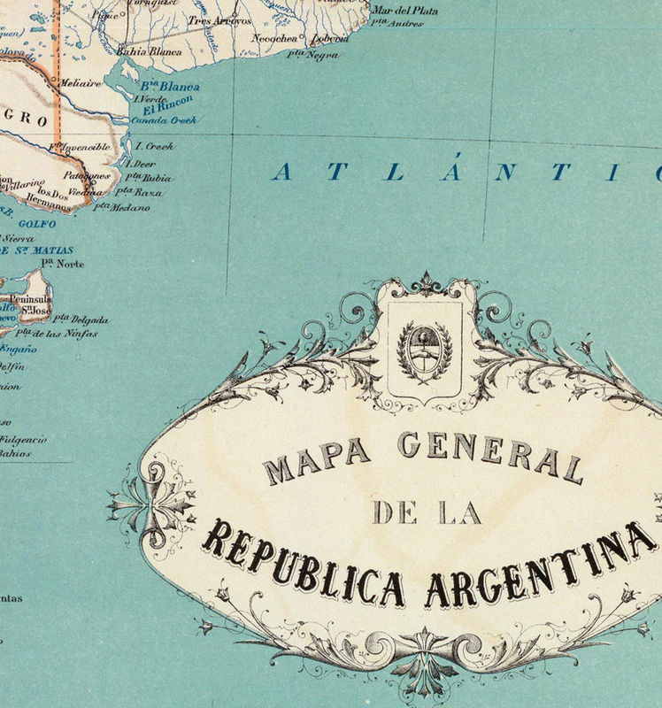 Old Map Argentina South America Antique Map OLD MAPS AND - Argentina map vintage