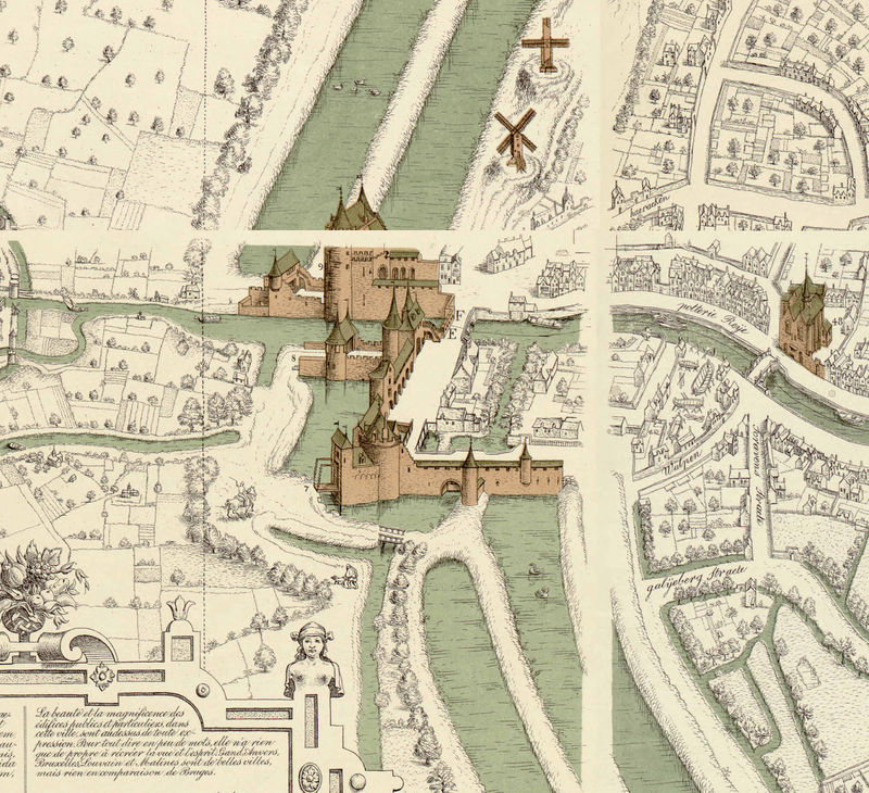 Old Map of Bruges belgium Brugae Flandorum 1562 OLD MAPS AND