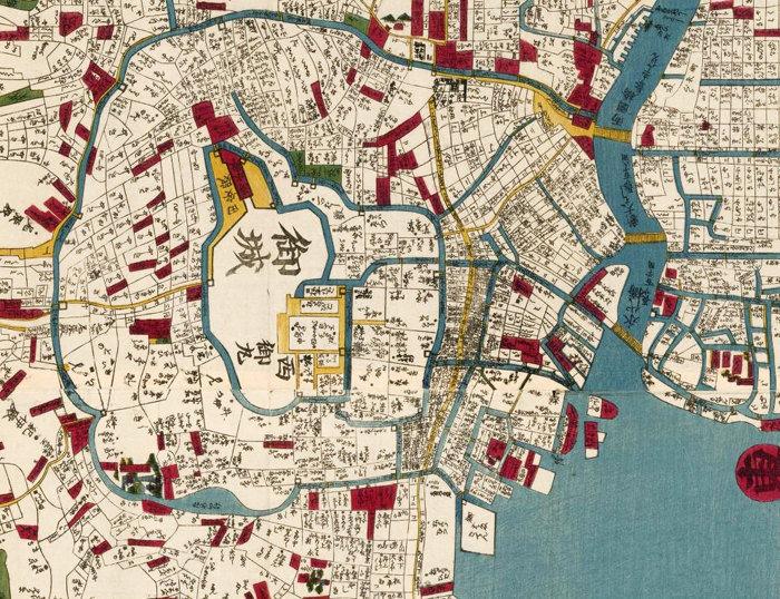 Vintage Map Of Tokyo Japan OLD MAPS AND VINTAGE PRINTS - Japan map 1920