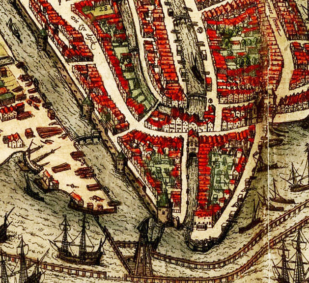 Old Map Of Amsterdam Netherlands Illustration Gravure OLD - Amsterdam old map