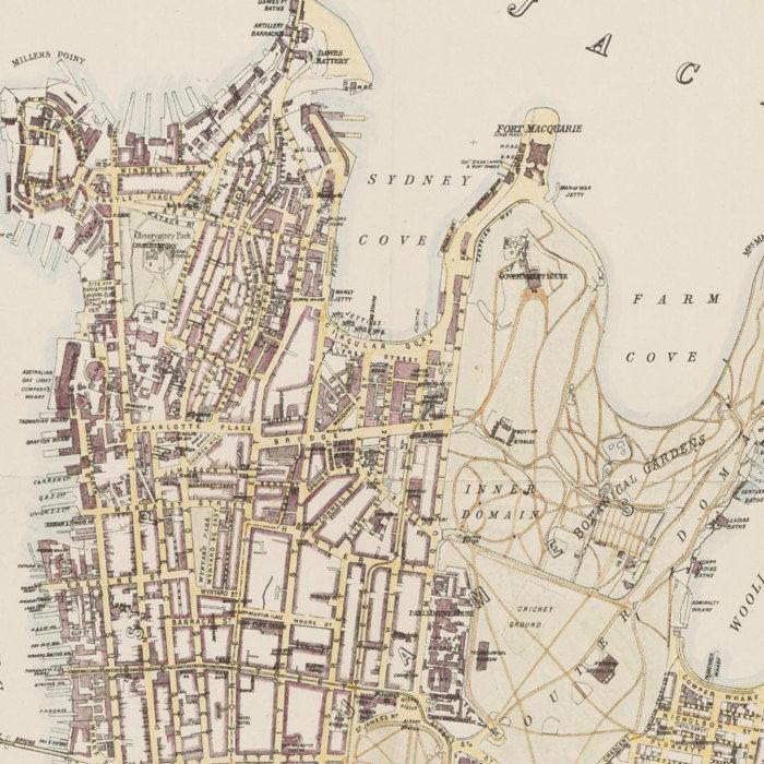 Old Map Of Sydney Australia 1895 Old Maps And Vintage Prints