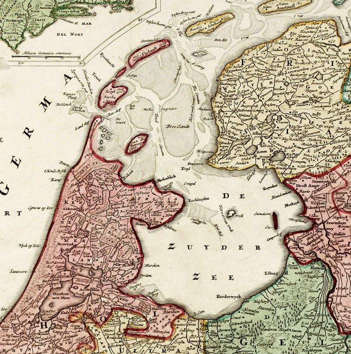 Vintage Map of Belgium Netherlands Hollandia Holland Antique map ...
