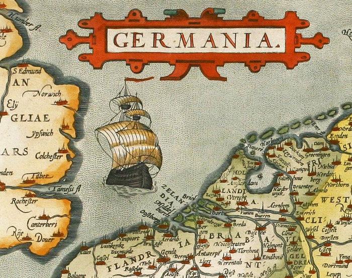 Vintage Map Of Germany Germania Antique Deutshland OLD MAPS - Germany map full