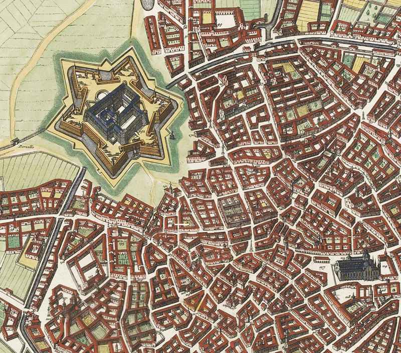 Old Map of Milan Milano, Italia 1700 Antique Vintage Map Italy ...