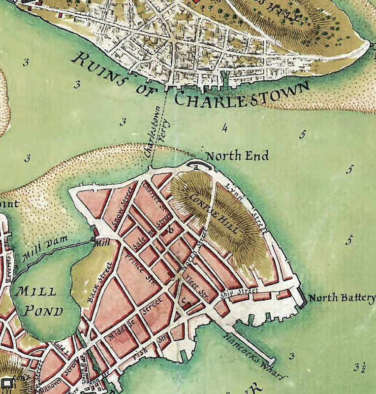 BirdsEye View Old Map Of Boston And Environs