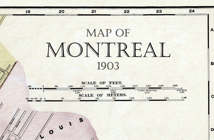 Old Map Of Montreal Canada OLD MAPS AND VINTAGE PRINTS - Old montreal map
