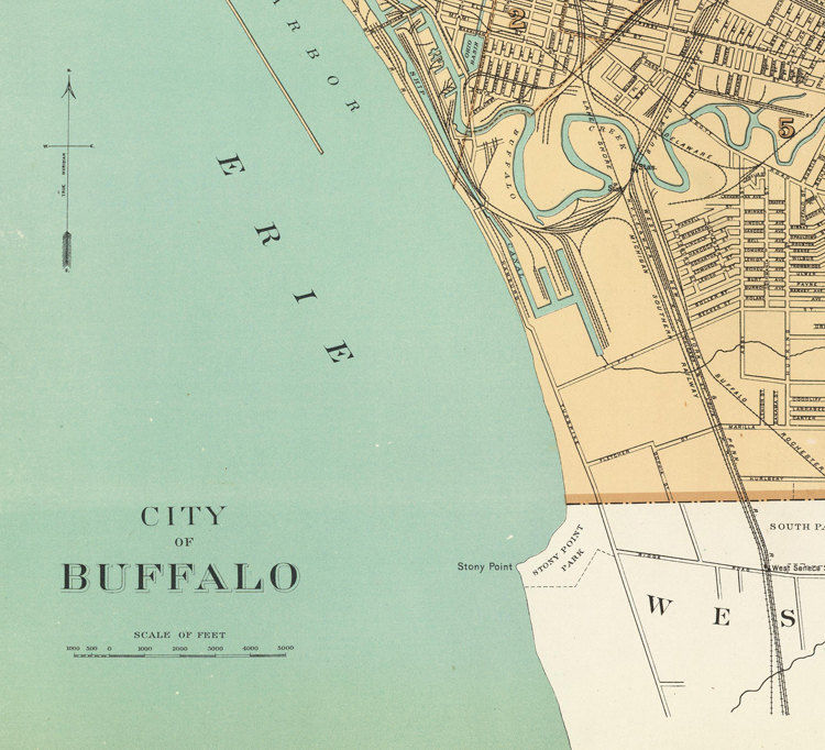 Old Map Of Buffalo New York United States OLD MAPS AND - Map of us showing buffalo ny