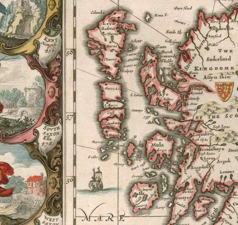 Old Map of United Kingdom Ireland Scotland England 1642 UK – Map Uk Ireland Scotland