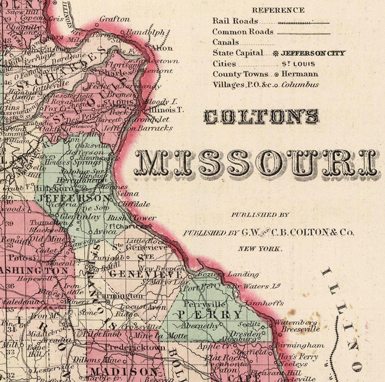 Old Map Missouri State United States Of America OLD MAPS - Us map 1869