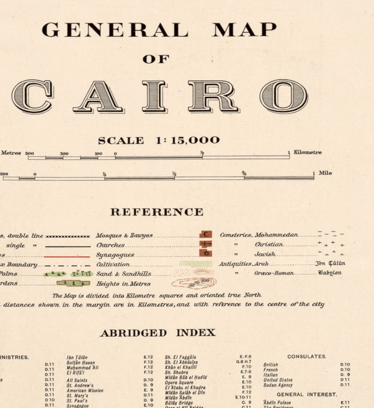 Old Map Of Cairo Egypt OLD MAPS AND VINTAGE PRINTS - Map of egypt 1920