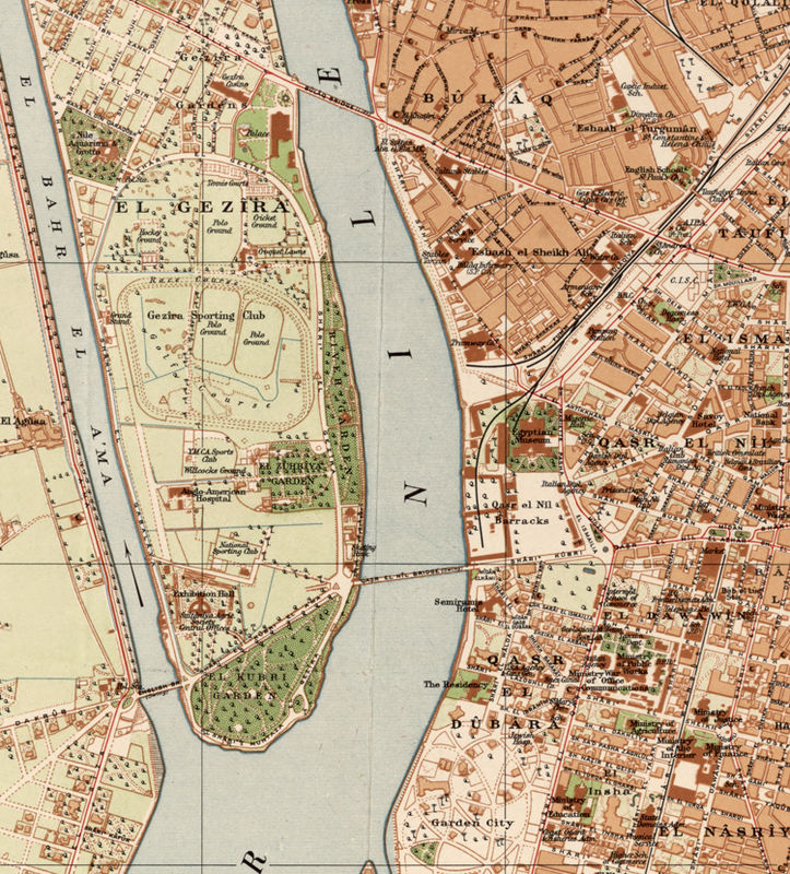 Old Map of Cairo Egypt 1920 - OLD MAPS AND VINTAGE PRINTS