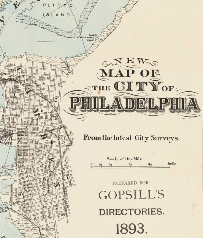 Old Map of Philadelphia, United States 1893 - OLD MAPS AND VINTAGE ...