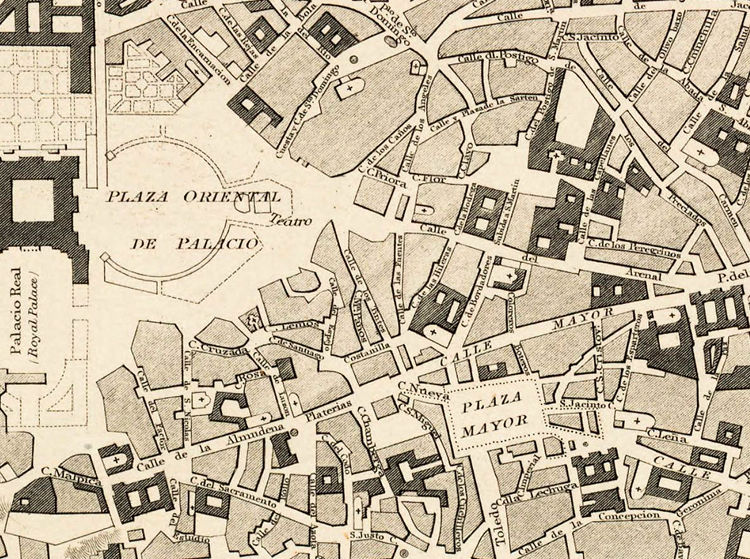 Old Map of Madrid with gravures, Spain Espana 1831 antique map - OLD ...