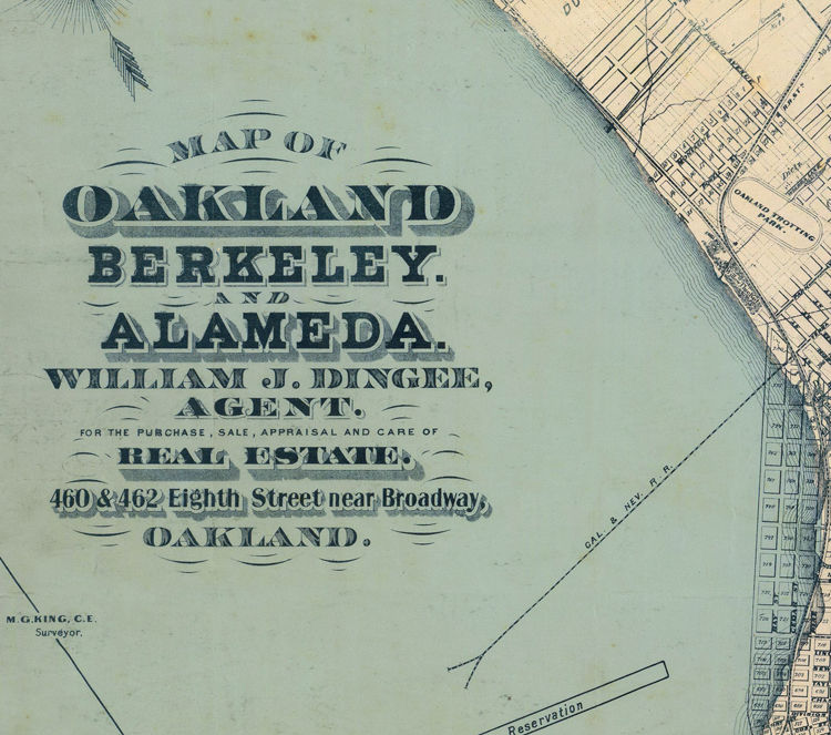Old map oakland california 1884 old maps and vintage prints old map oakland california 1884 product image publicscrutiny Image collections