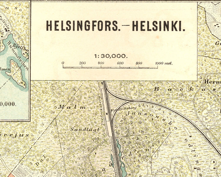 Vintage Laukkuja Helsinki : Old map of helsinki maps and vintage prints