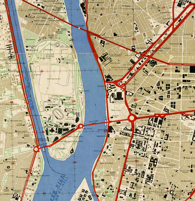 Vintage Map Of Cairo Egypt Old Map OLD MAPS AND VINTAGE PRINTS - Vintage map of egypt