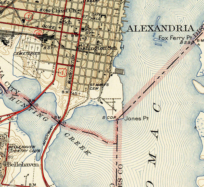 Old Map of Alexandria Virginia Columbia OLD MAPS AND VINTAGE PRINTS