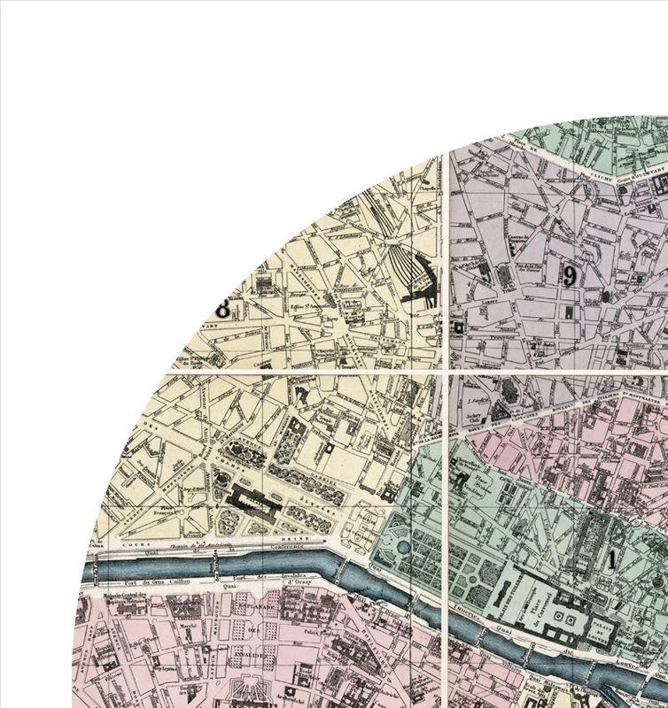 PARIS - city poster - city map poster print