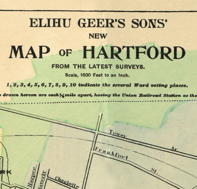 Old Map of Hartford 1903, Connecticut