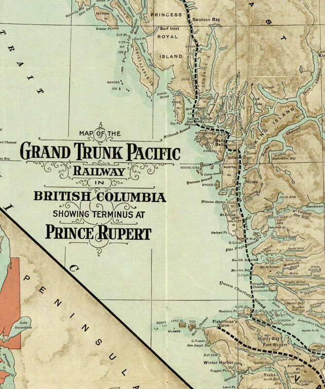 Old Map Of British Columbia Canada OLD MAPS AND VINTAGE PRINTS - Old map of canada