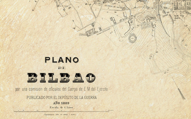 Old Map of Bilbao 1899 Spain OLD MAPS AND VINTAGE PRINTS