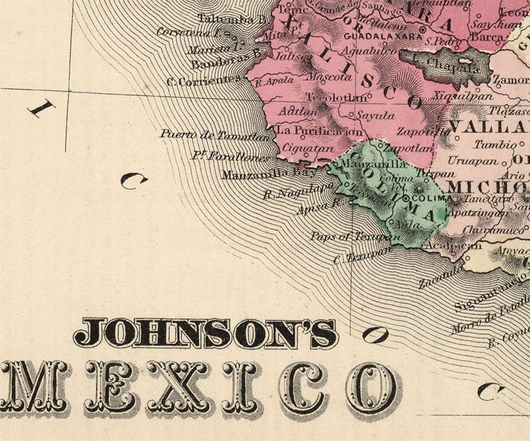 old map of mexico 1865 vintage map old maps and vintage prints