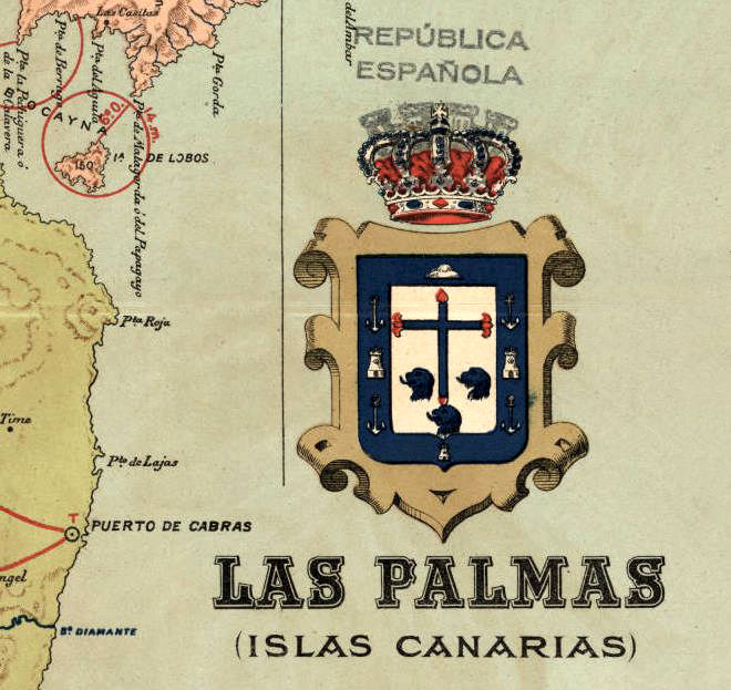 Old map las palmas canary islands 1900 old maps and - Vintage las palmas ...