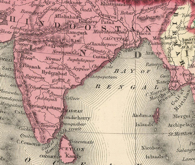 Old map of asia india china south east asia 1865 old maps and old map of asia india china south east asia 1865 product publicscrutiny Gallery